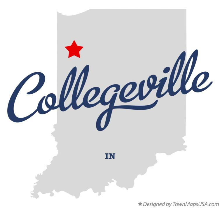 Map of Collegeville Indiana IN