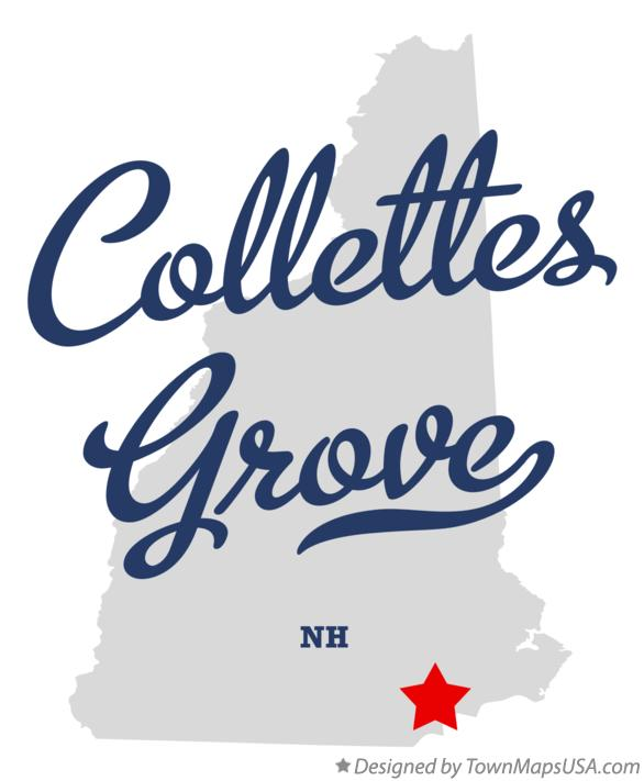 Map of Collettes Grove New Hampshire NH