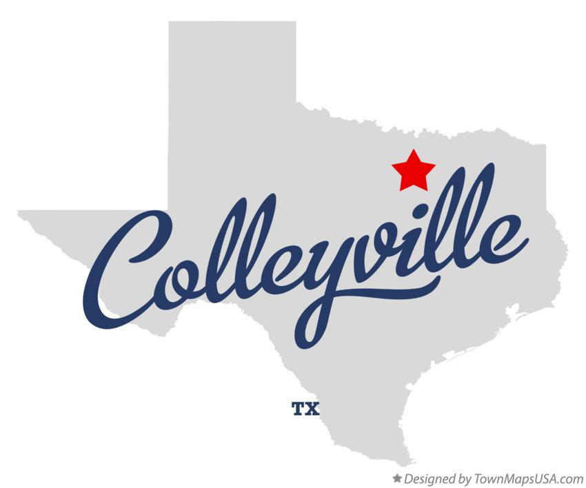 Map Of Colleyville Tx Texas