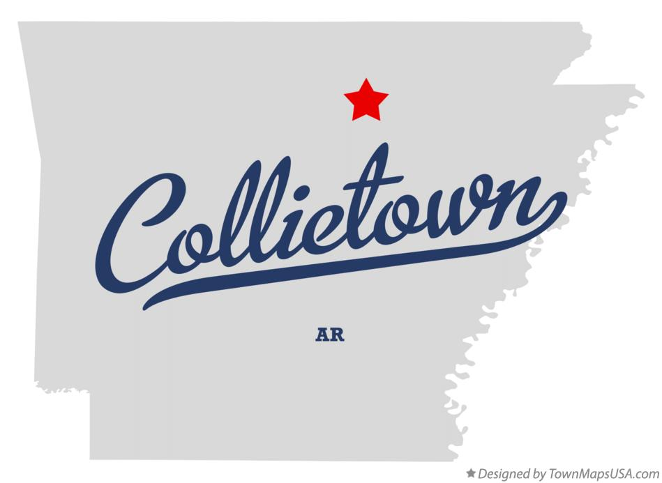 Map of Collietown Arkansas AR