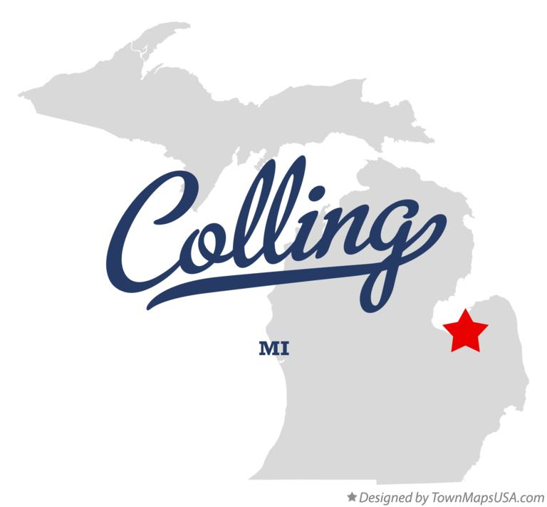 Map of Colling Michigan MI
