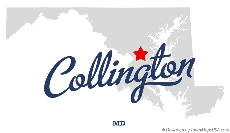 Map of Collington Maryland MD