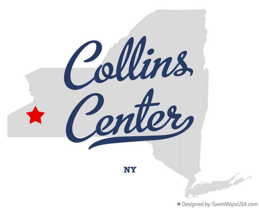 Map of Collins Center New York NY