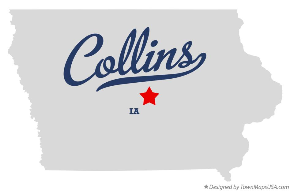 Map of Collins Iowa IA