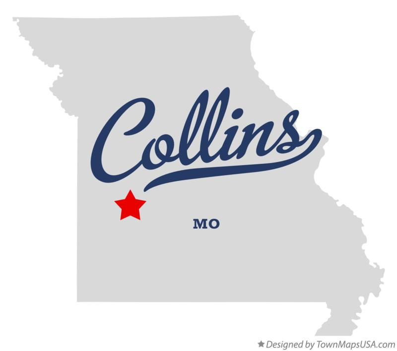 Map of Collins Missouri MO