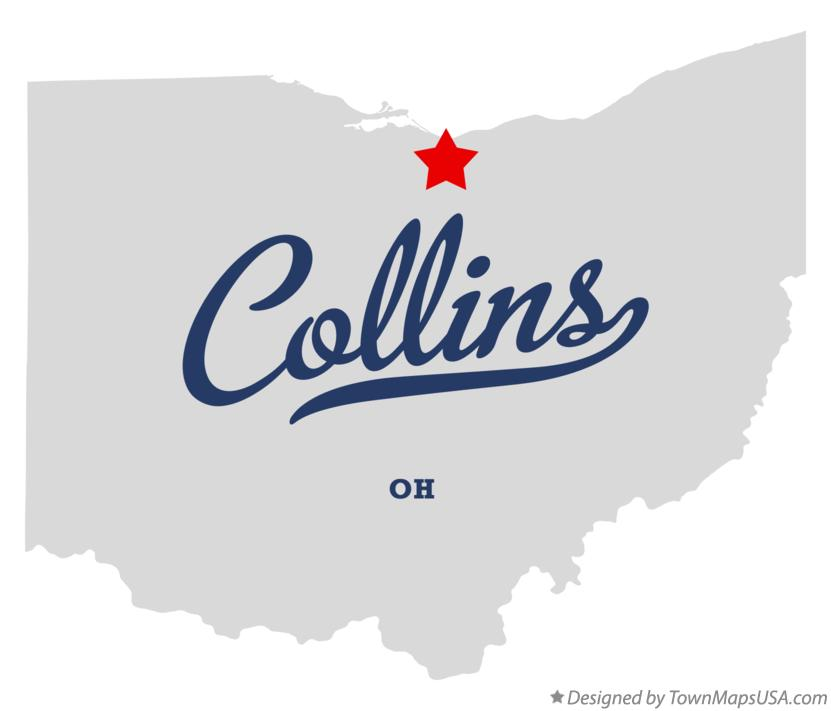 Map of Collins Ohio OH