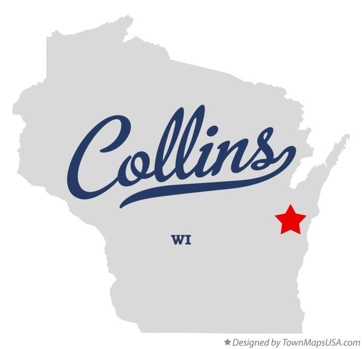 Map of Collins Wisconsin WI