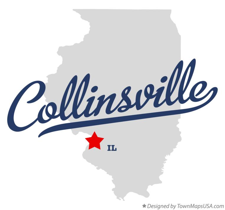 Map of Collinsville Illinois IL