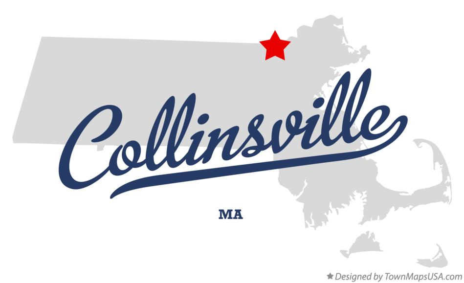 Map of Collinsville Massachusetts MA
