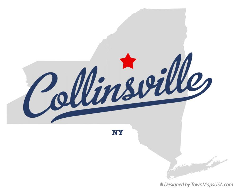 Map of Collinsville New York NY