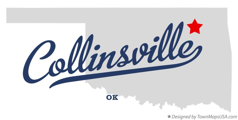 Map of Collinsville Oklahoma OK