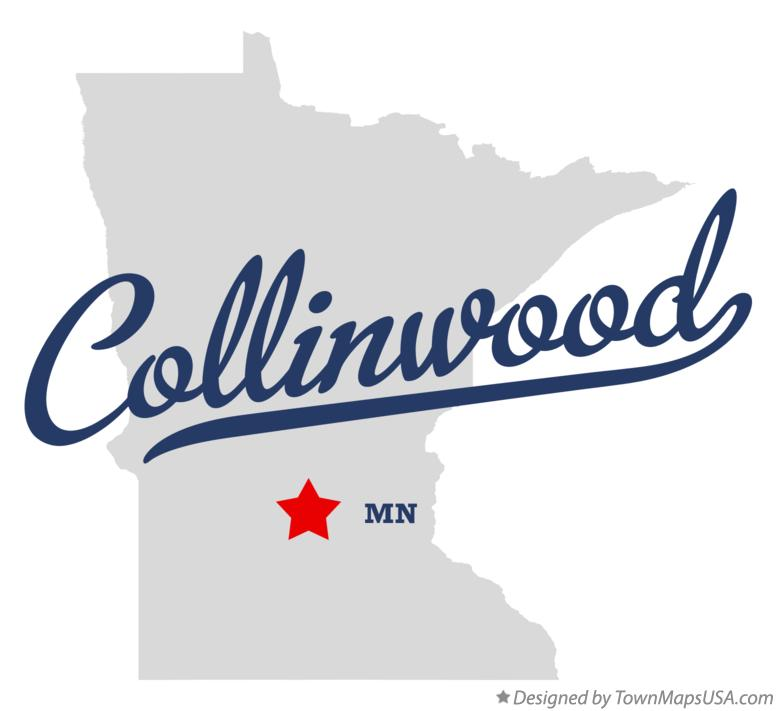 Map of Collinwood Minnesota MN