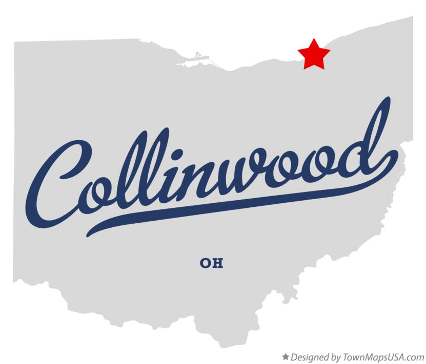 Map of Collinwood Ohio OH