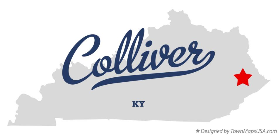 Map of Colliver Kentucky KY
