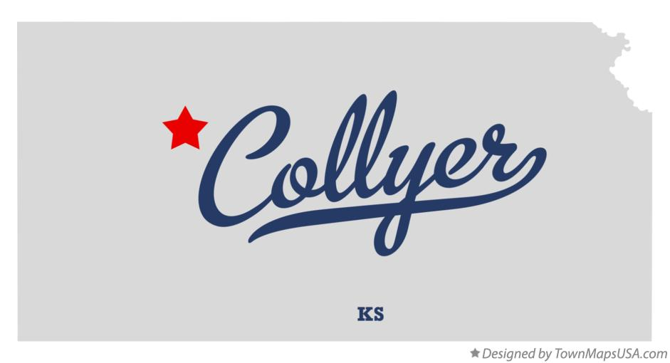 Map of Collyer Kansas KS