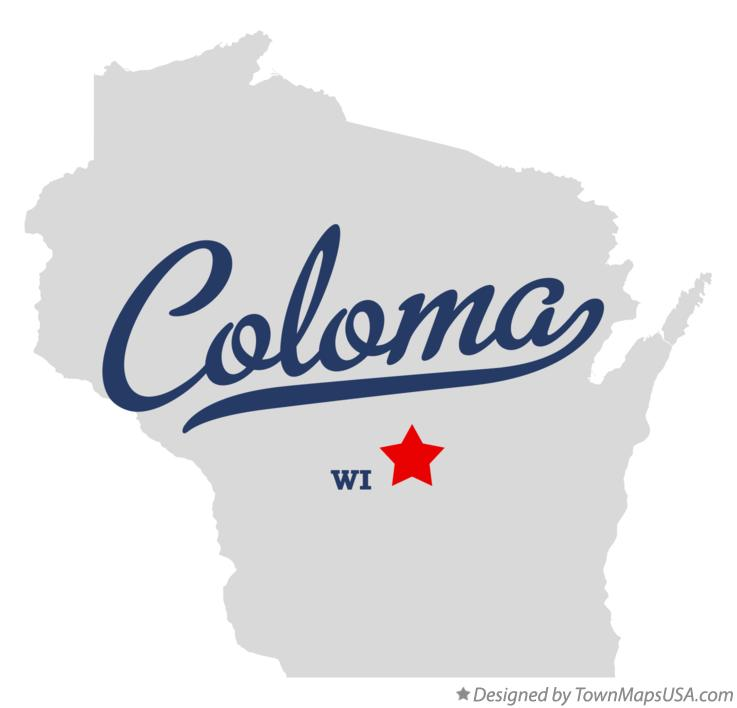 Map of Coloma, WI, Wisconsin