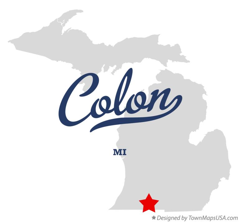 Map of Colon Michigan MI