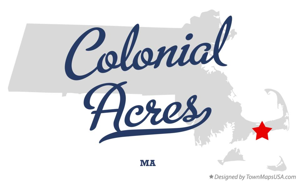 Map of Colonial Acres Massachusetts MA