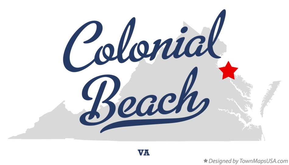 Map of Colonial Beach Virginia VA