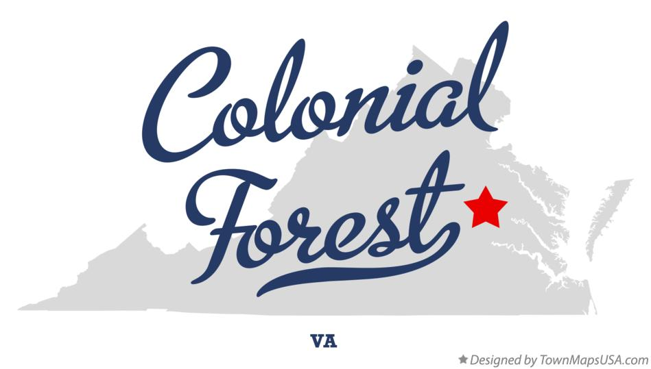 Map of Colonial Forest Virginia VA