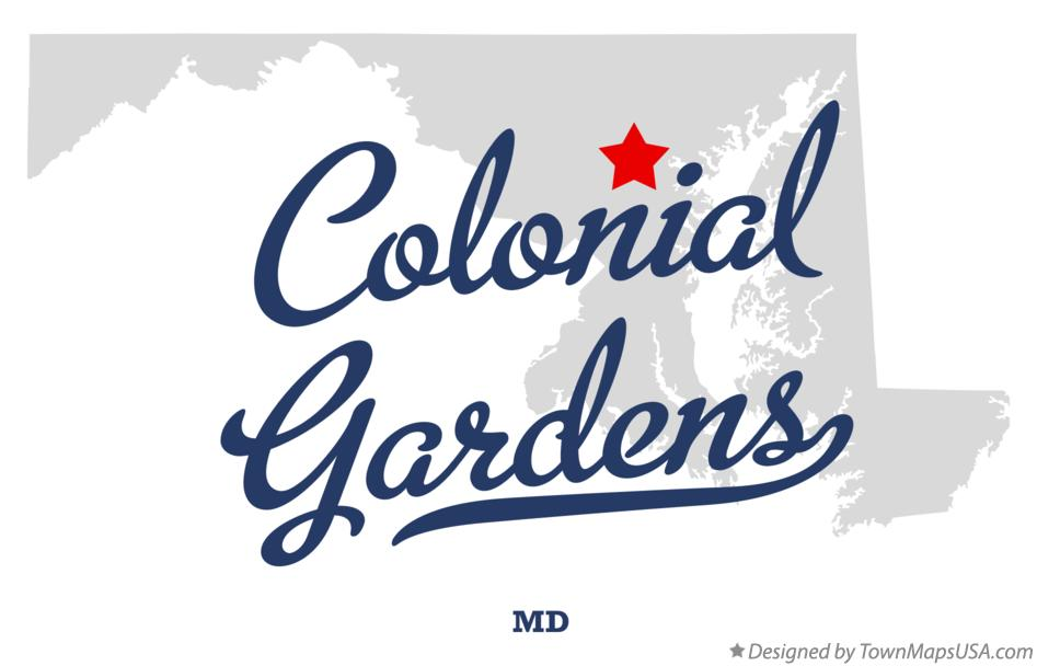 Map of Colonial Gardens Maryland MD