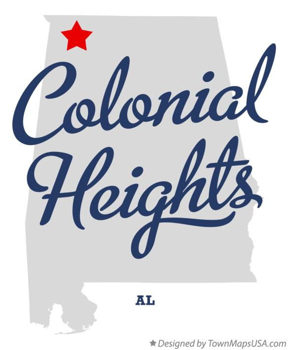 Map of Colonial Heights Alabama AL