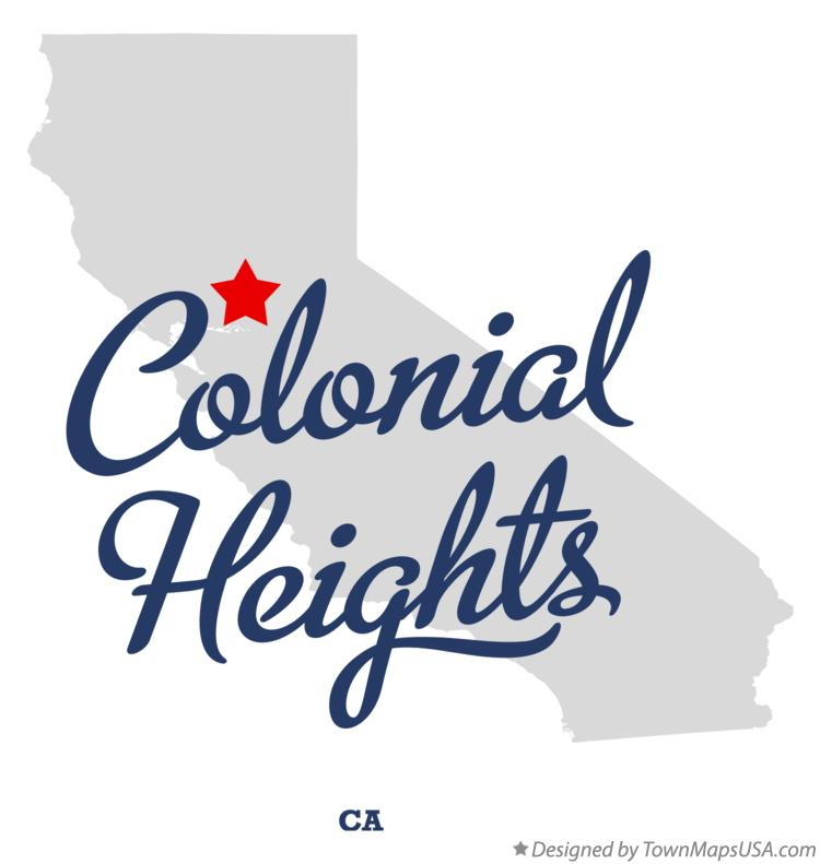 Map of Colonial Heights California CA