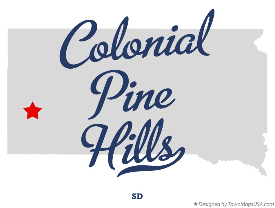 Map of Colonial Pine Hills South Dakota SD