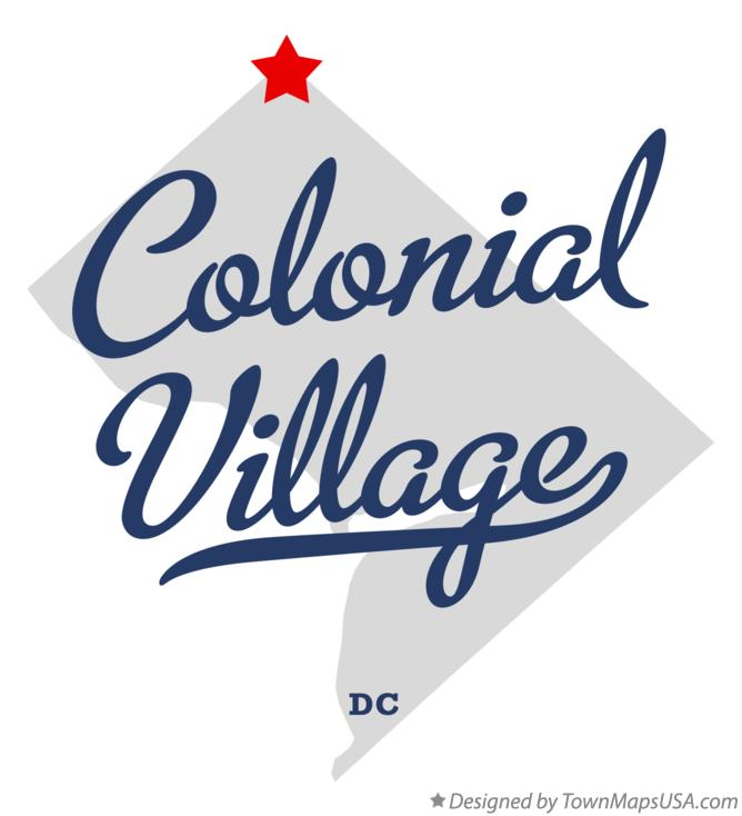 Map of Colonial Village District Of Columbia DC