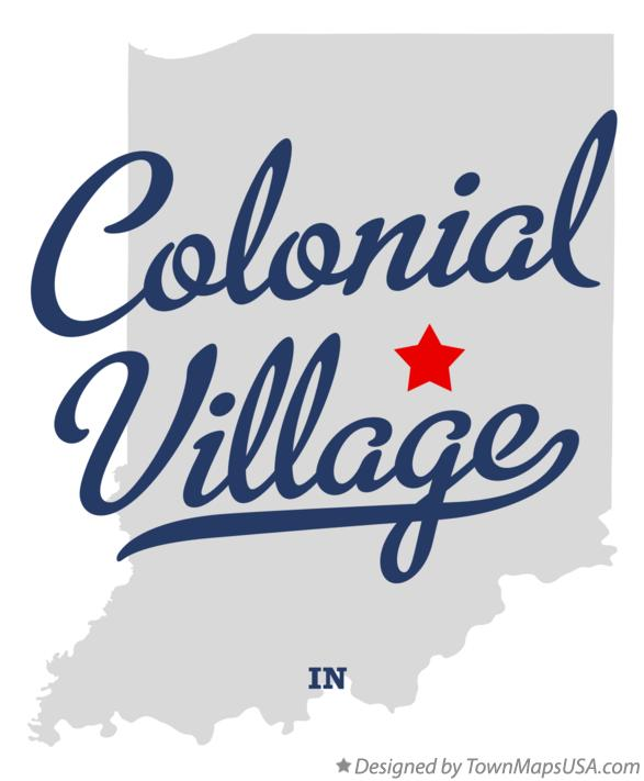 Map of Colonial Village Indiana IN