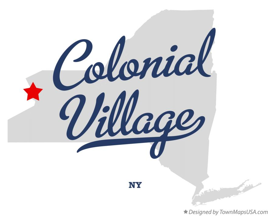 Map of Colonial Village New York NY