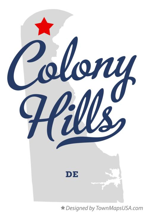 Map of Colony Hills Delaware DE