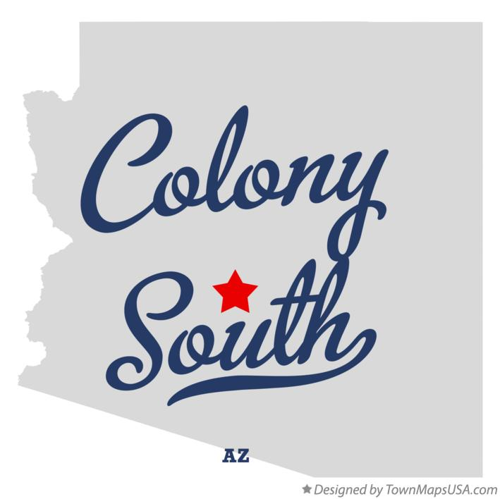 Map of Colony South Arizona AZ