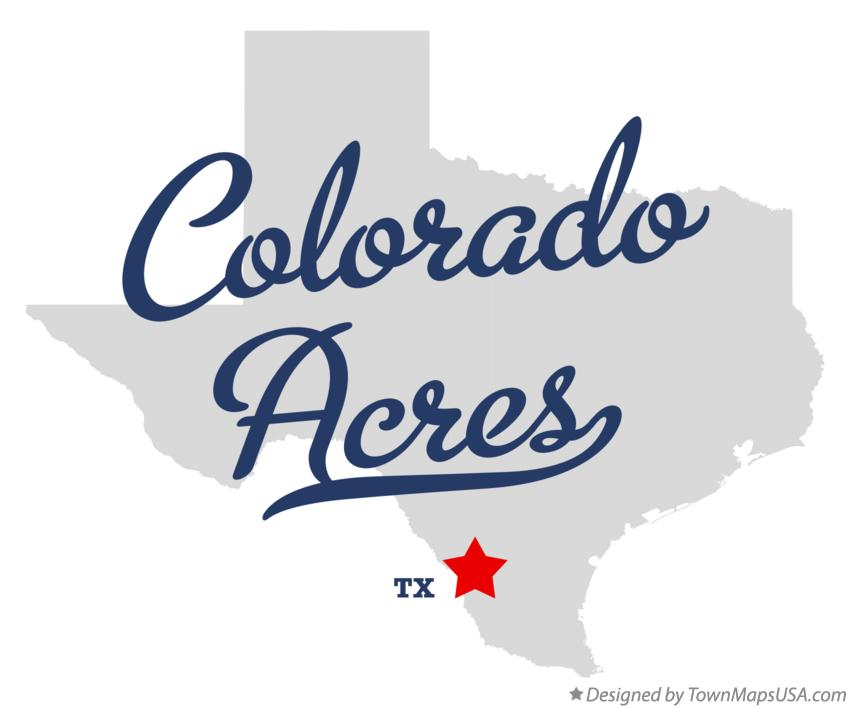 Map of Colorado Acres Texas TX