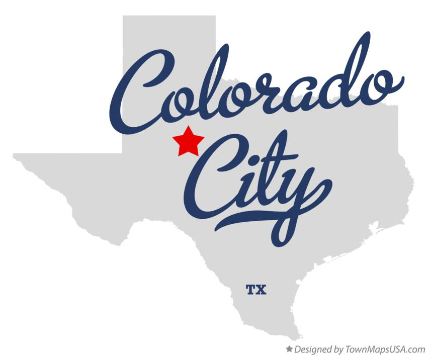 Map of Colorado City Texas TX