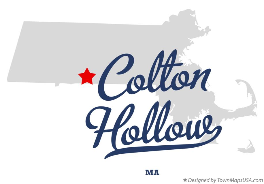 Map of Colton Hollow Massachusetts MA