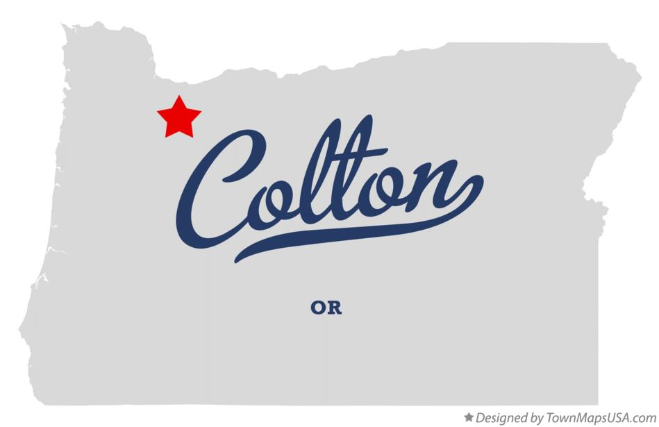 Map of Colton Oregon OR