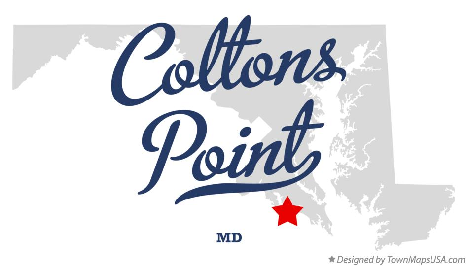 Map of Coltons Point Maryland MD