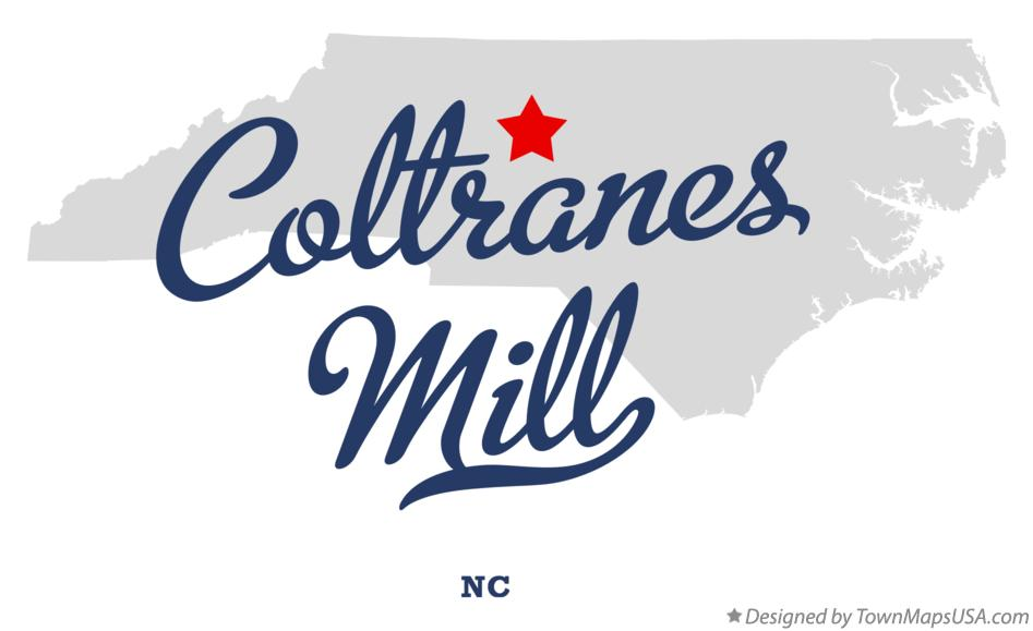 Map of Coltranes Mill North Carolina NC