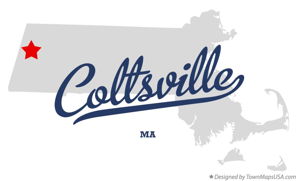 Map of Coltsville Massachusetts MA