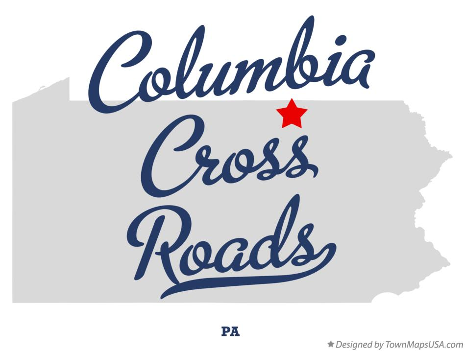 Map of Columbia Cross Roads Pennsylvania PA