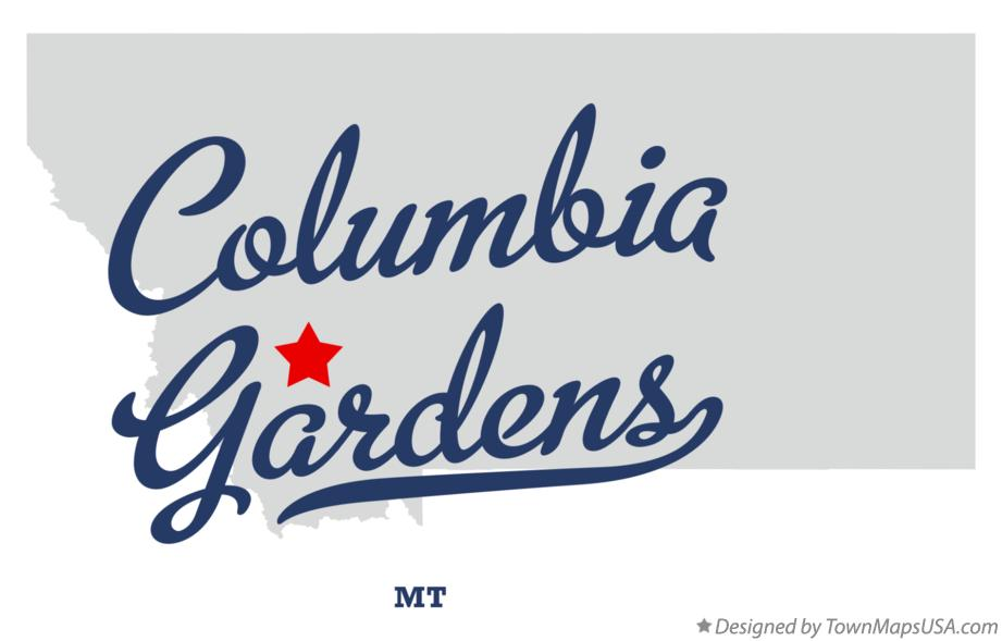 Map of Columbia Gardens Montana MT