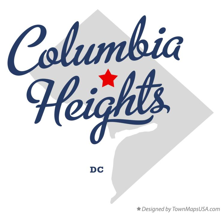 Map of Columbia Heights District Of Columbia DC