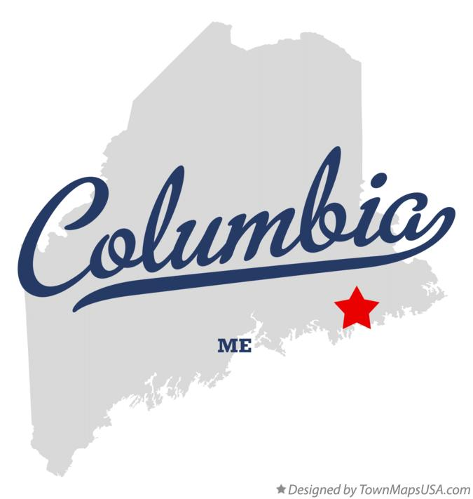 Map of Columbia Maine ME