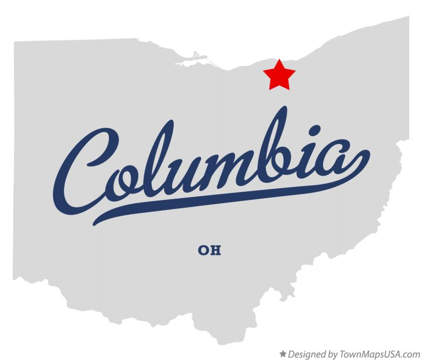 Map of Columbia Ohio OH