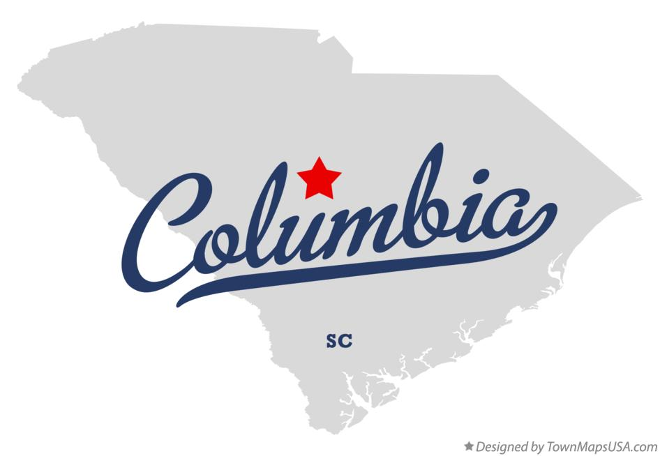 Map Of Columbia Sc South Carolina