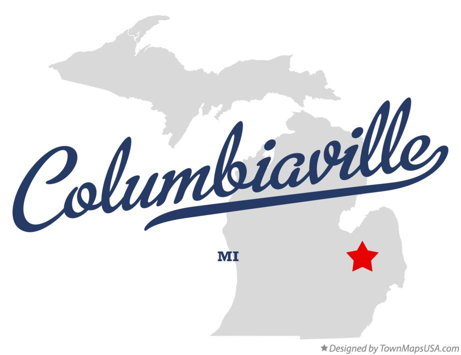 Map of Columbiaville Michigan MI