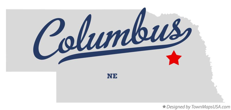 Map of Columbus, NE, Nebraska
