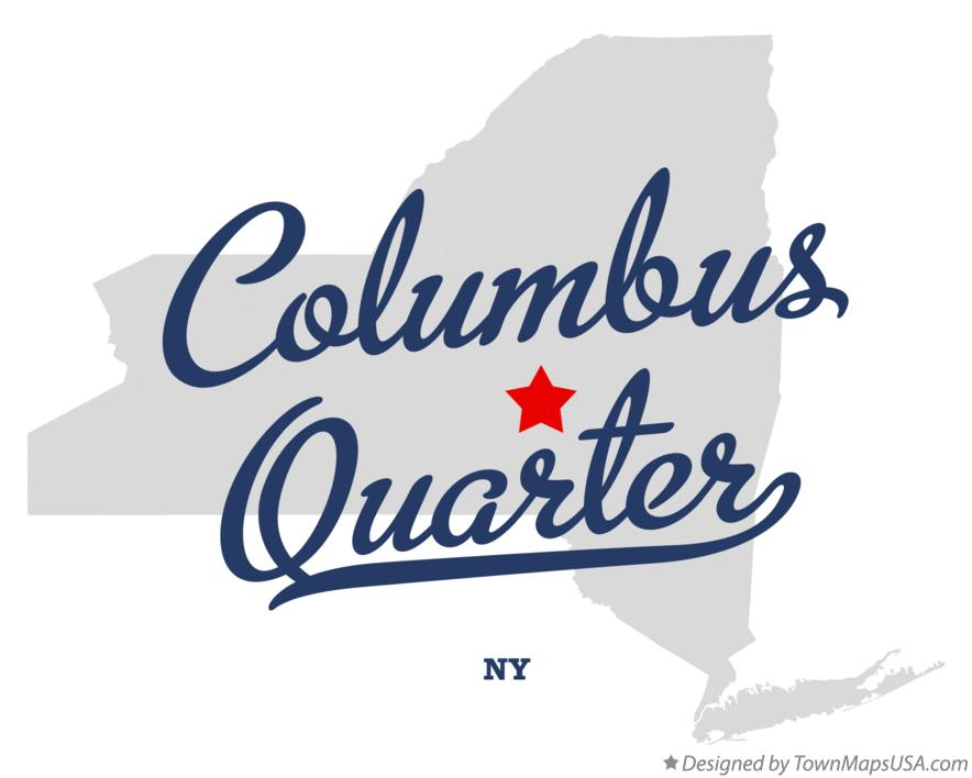 Map of Columbus Quarter New York NY