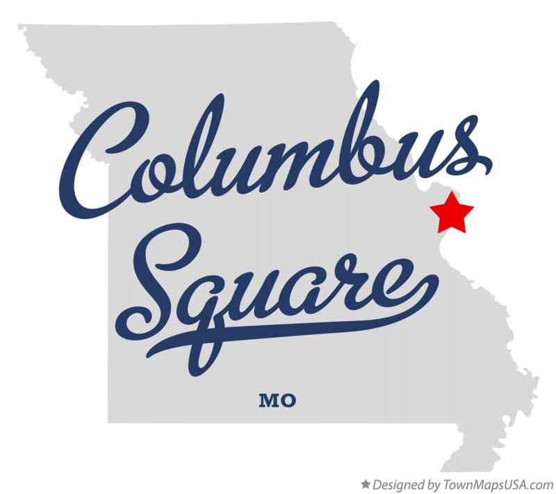 Map of Columbus Square Missouri MO